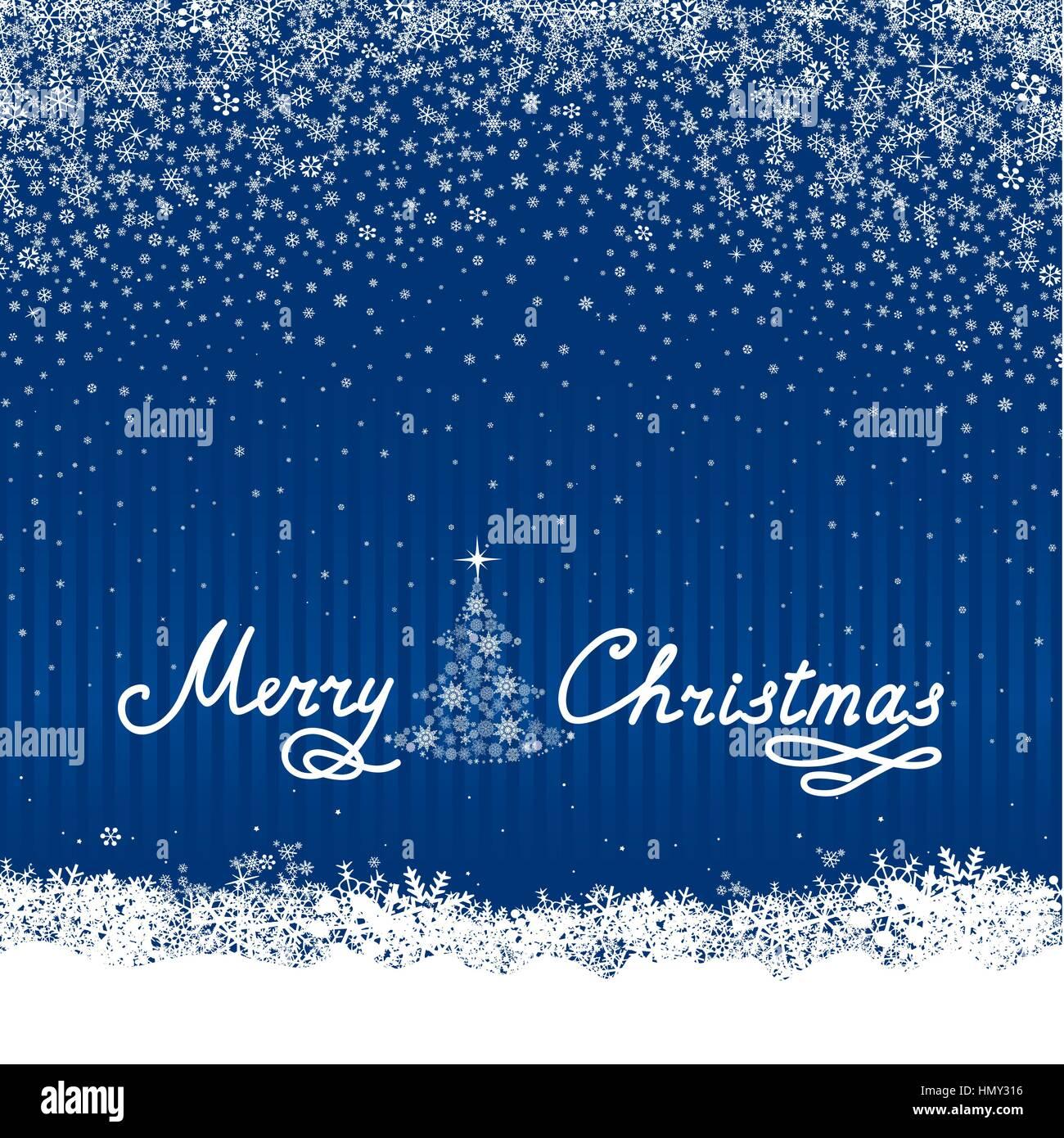 Weihnachten Schnee Hintergrund mit Tannenbaum und Schneefall. happy ...
