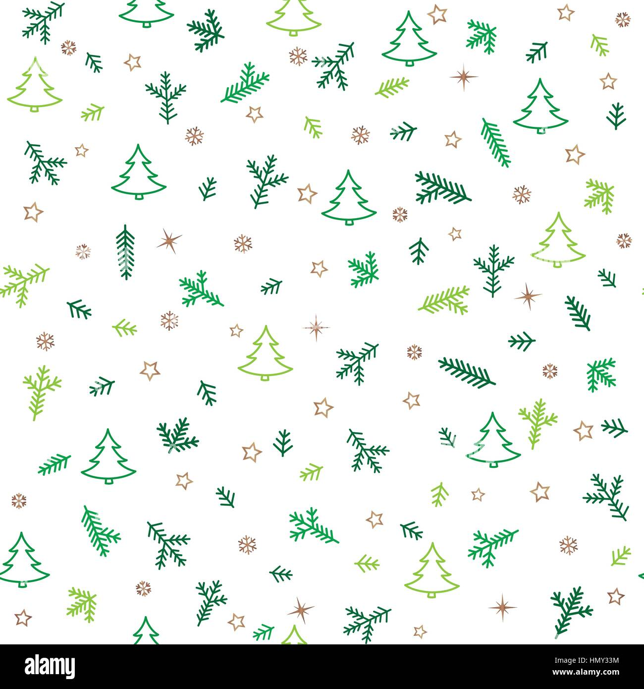 Weihnachten Icons nahtlose Muster mit neuen Jahr Baum, Schnee und ...