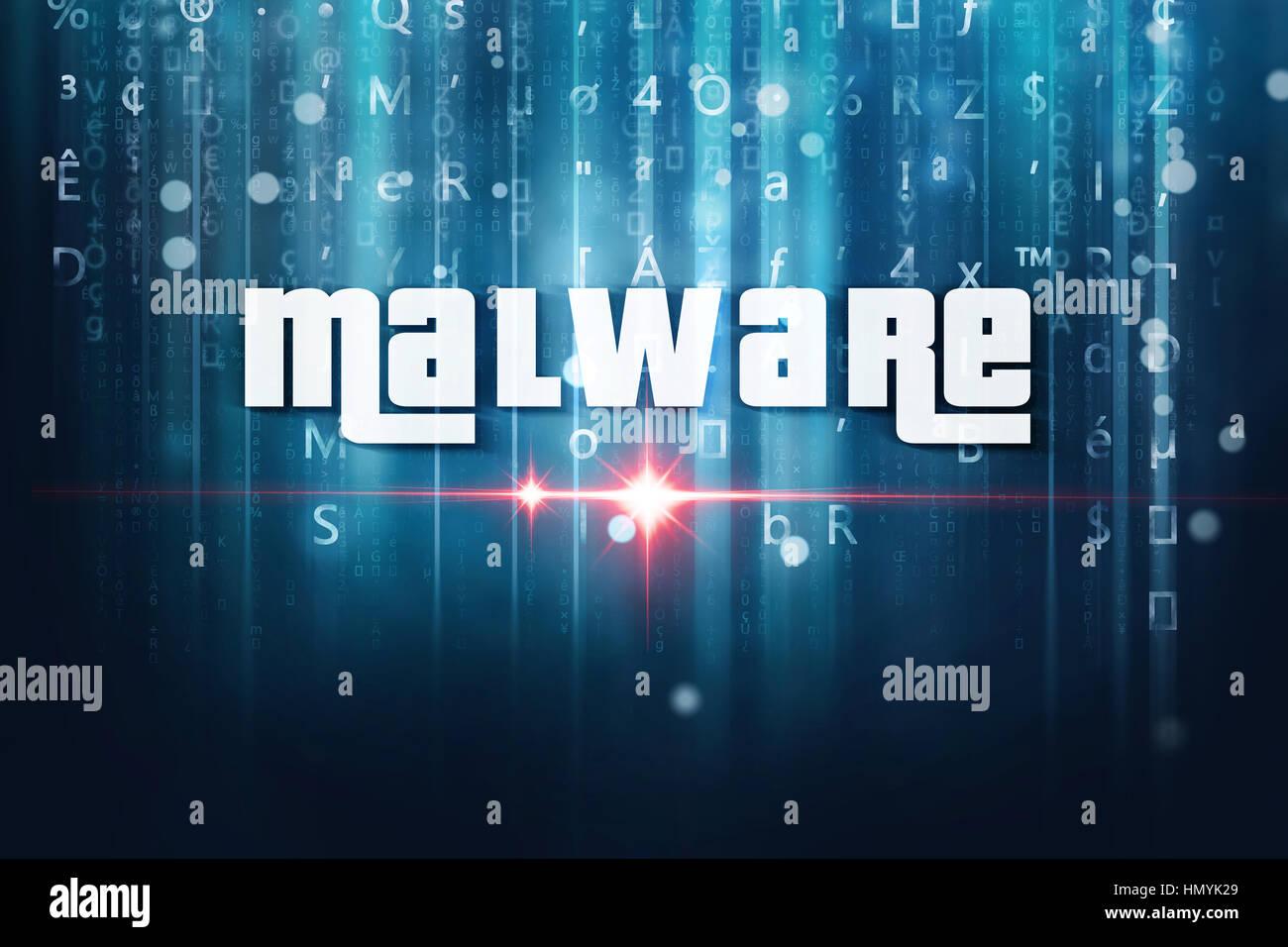 Malware-Computer-virus Stockbild
