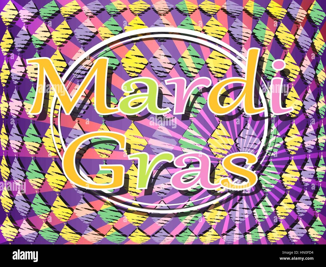Fasching Karneval Farbigen Hintergrund Vektor Illustration Vektor