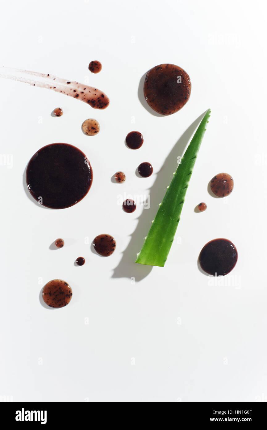 Abstrakte Heidelbeere Aloe Vera Gesichtsmaske Stockbild