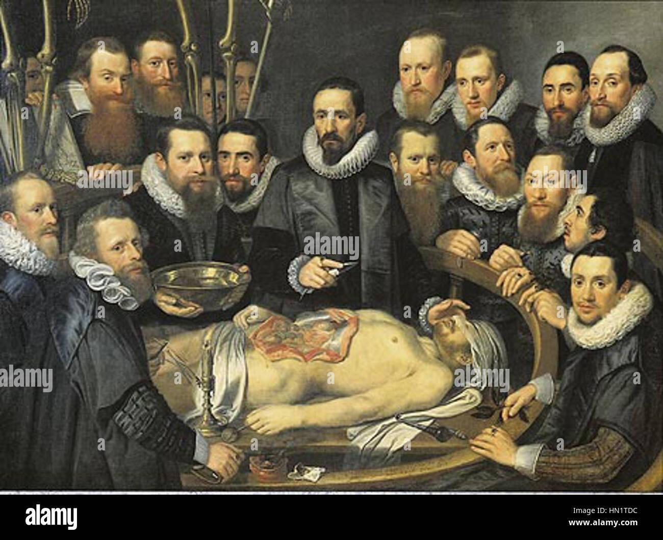 Michiel Jansz van Mierevelt - Anatomie-Lektion von Dr. Willem van ...