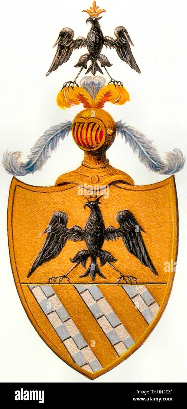 Wappen Marenzi Im 14. Und 15. Halbmonatsschrift Stockbild
