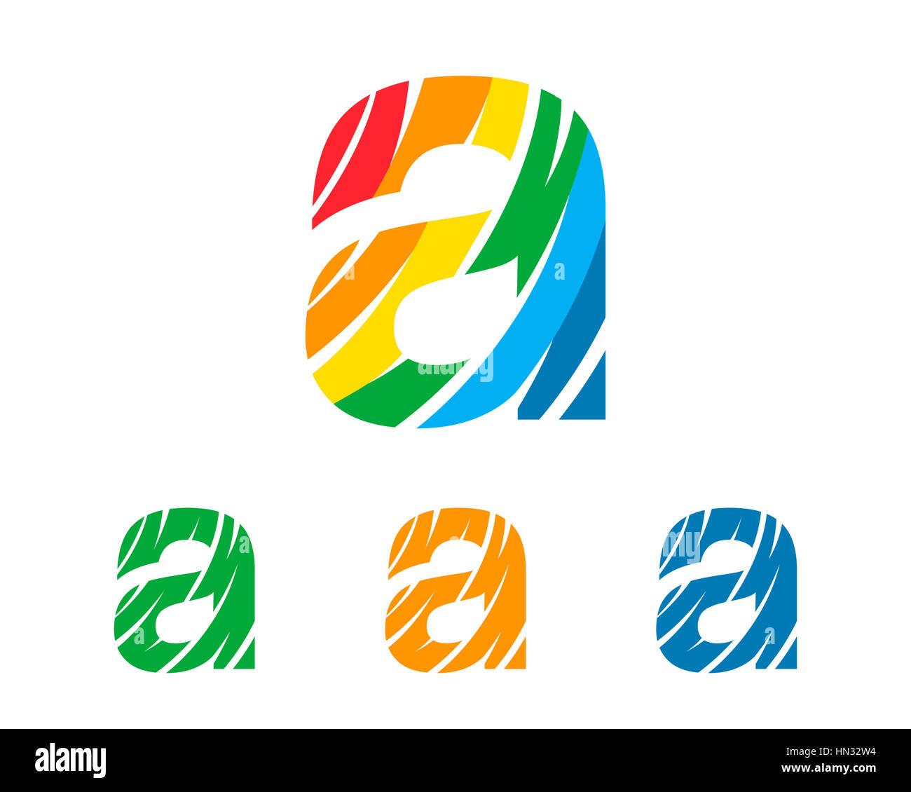 Corporate Geschäftsbrief ein Logo-Design-Vorlage. Einfache und ...