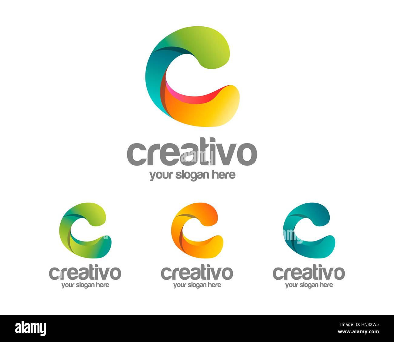 Buchstabe C-Logo-Vorlage. Einfache und saubere Buchstabe C Logo ...
