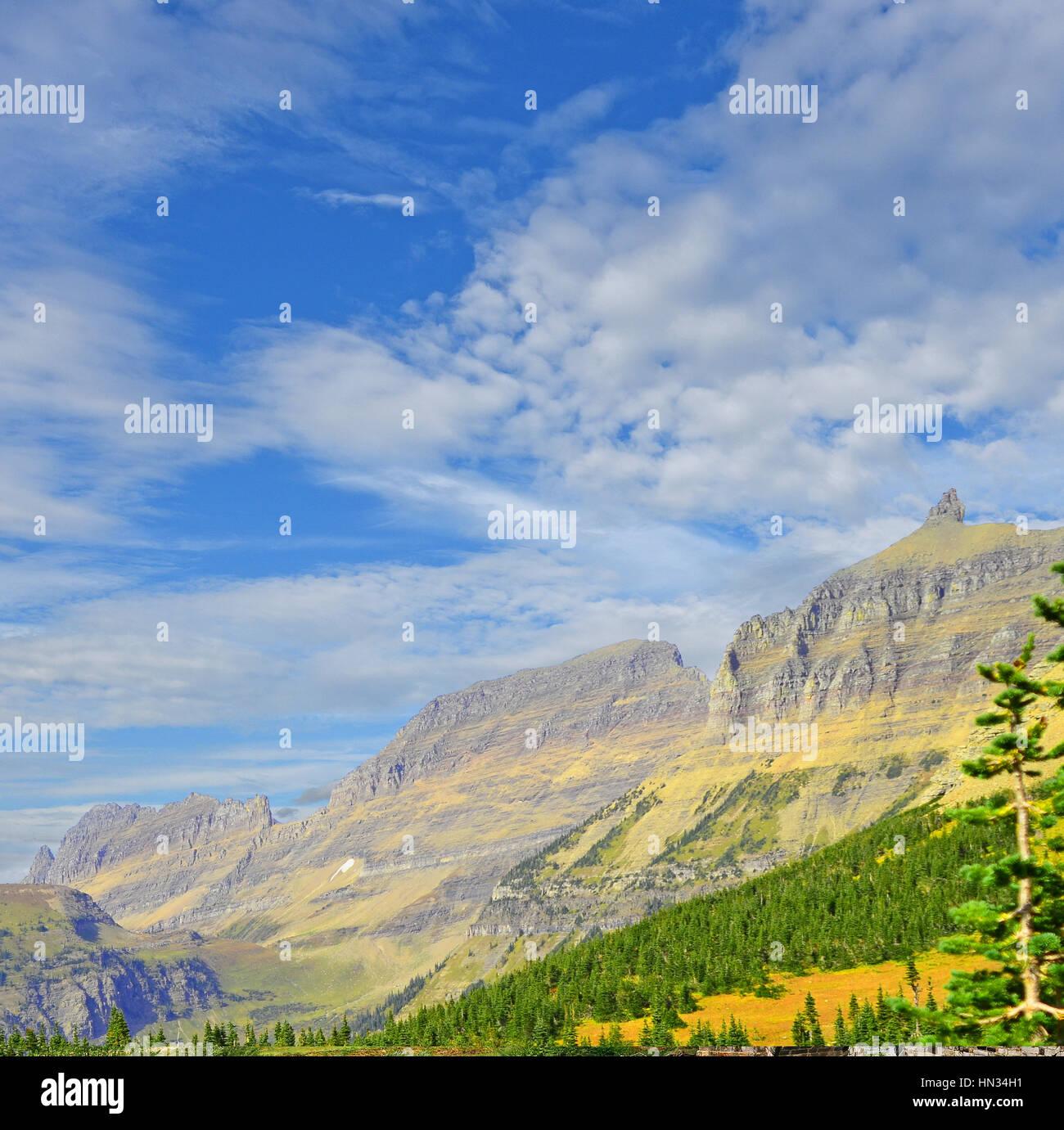 Der Garten Wand Felsformation im Glacier Nationalpark Montana, Vereinigte Staaten von Amerika Stockbild
