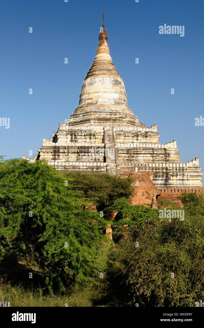 Bagan, Shwesandaw Pagode Tempel, der wichtigste Tempel in Bagan, Myanmar Stockbild