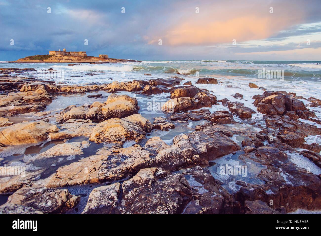 Blick auf die Pazifische Küste Stockbild