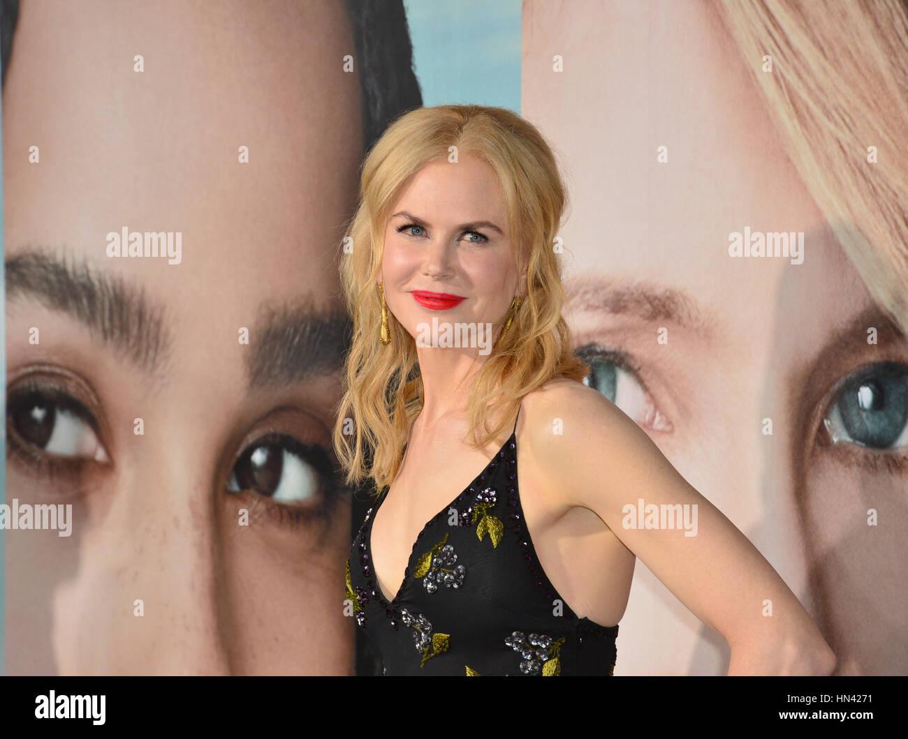 """Los Angeles, USA. 7. Februar 2017. Schauspielerin Nicole Kidman bei der Premiere für HBO Serie """"Big Little Stockbild"""