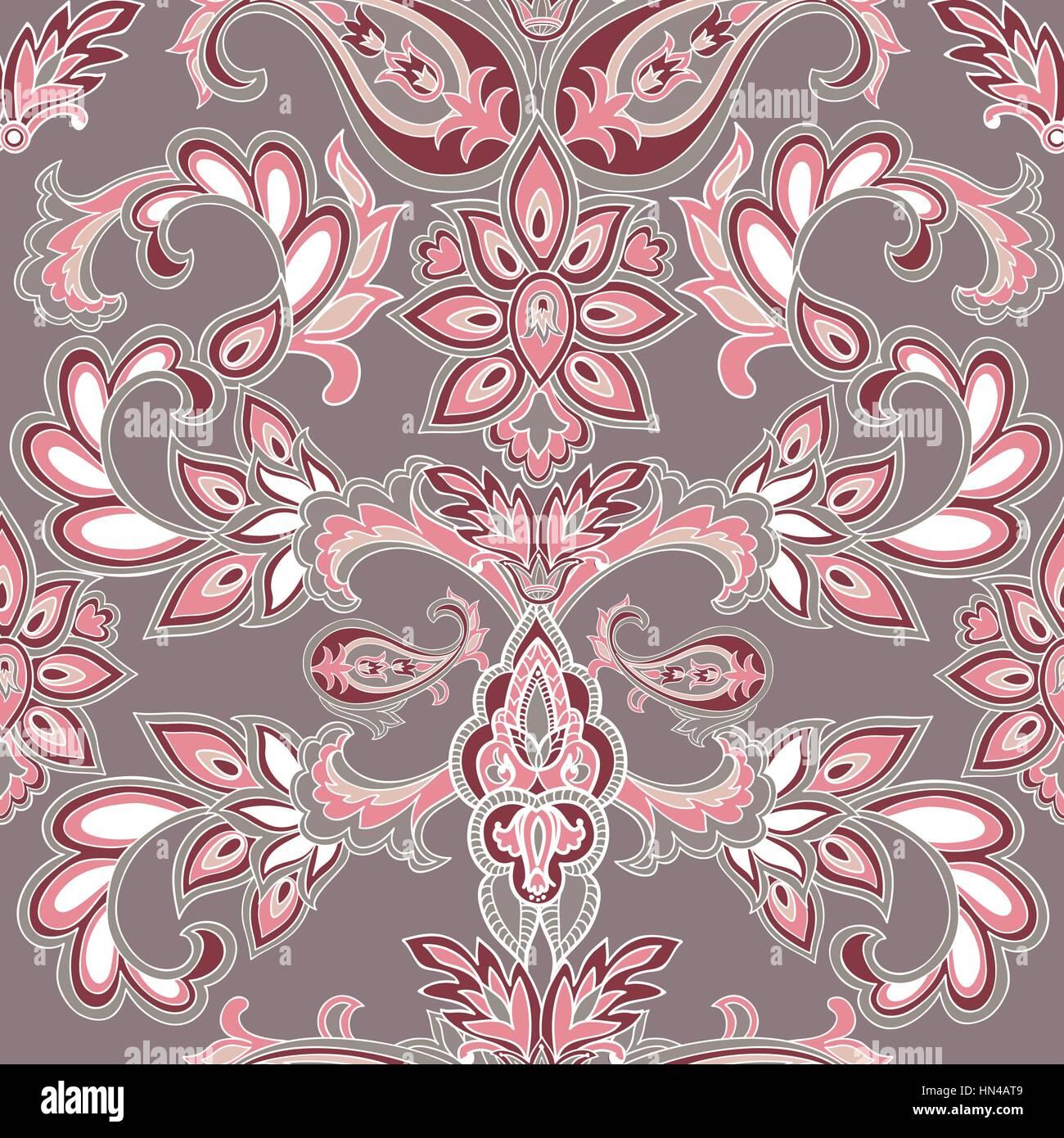 abstrakte orientalische floral nahtlose muster. blume geometrischen