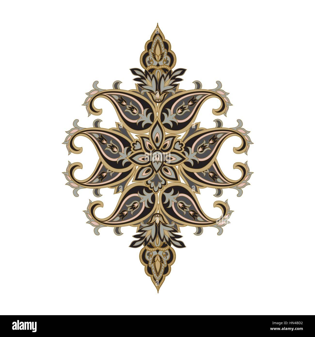 Florales ornament hintergrund orientalische ethnischen for Indische einrichtung