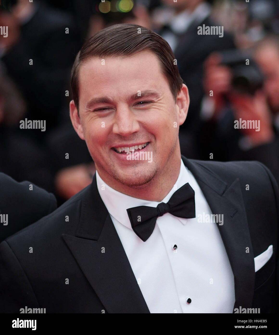 Channing Tatum kommt für die Premiere des Films, Foxcatcher, auf dem Cannes Film Festival am 19. Mai 2014, in Cannes, Stockfoto