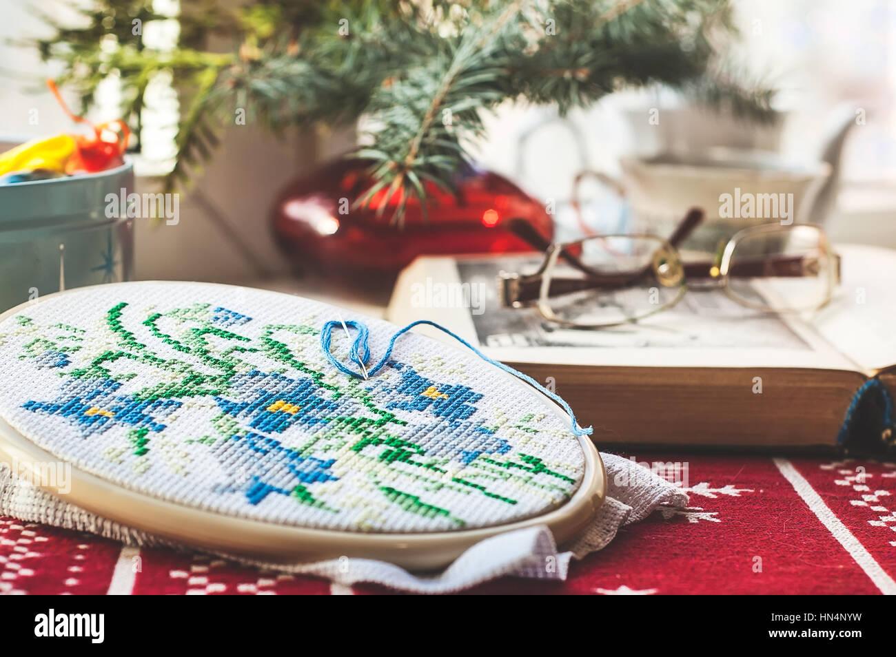 Christmas Cross Stitch Stockfotos & Christmas Cross Stitch Bilder ...