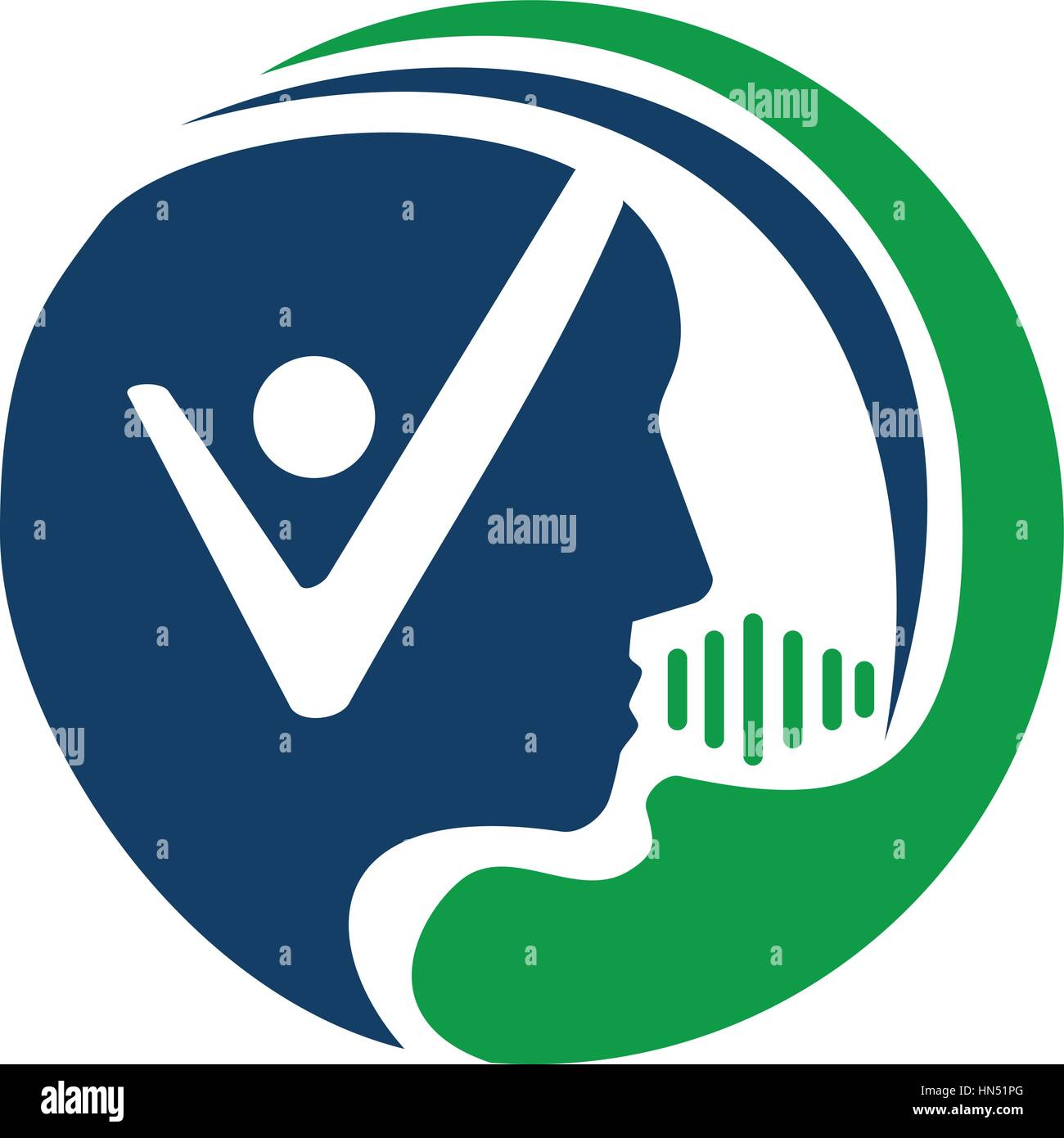 Logopädie-Gesundheit Stock Vektor