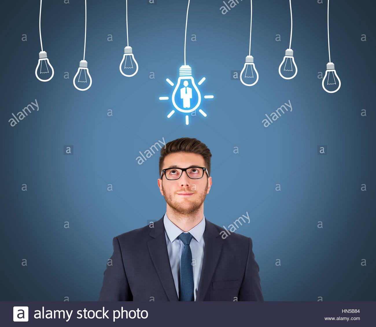 Rekrutierung und Idee mit Person Stockbild
