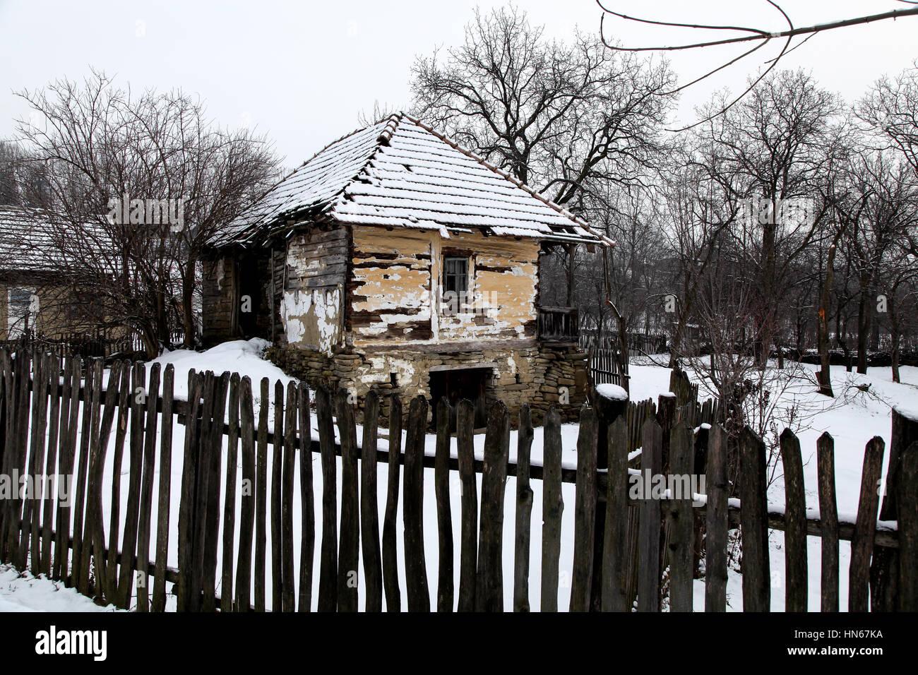 Ländliche Gegend in Rumänien, natürliche und reine Landschaften Stockfoto