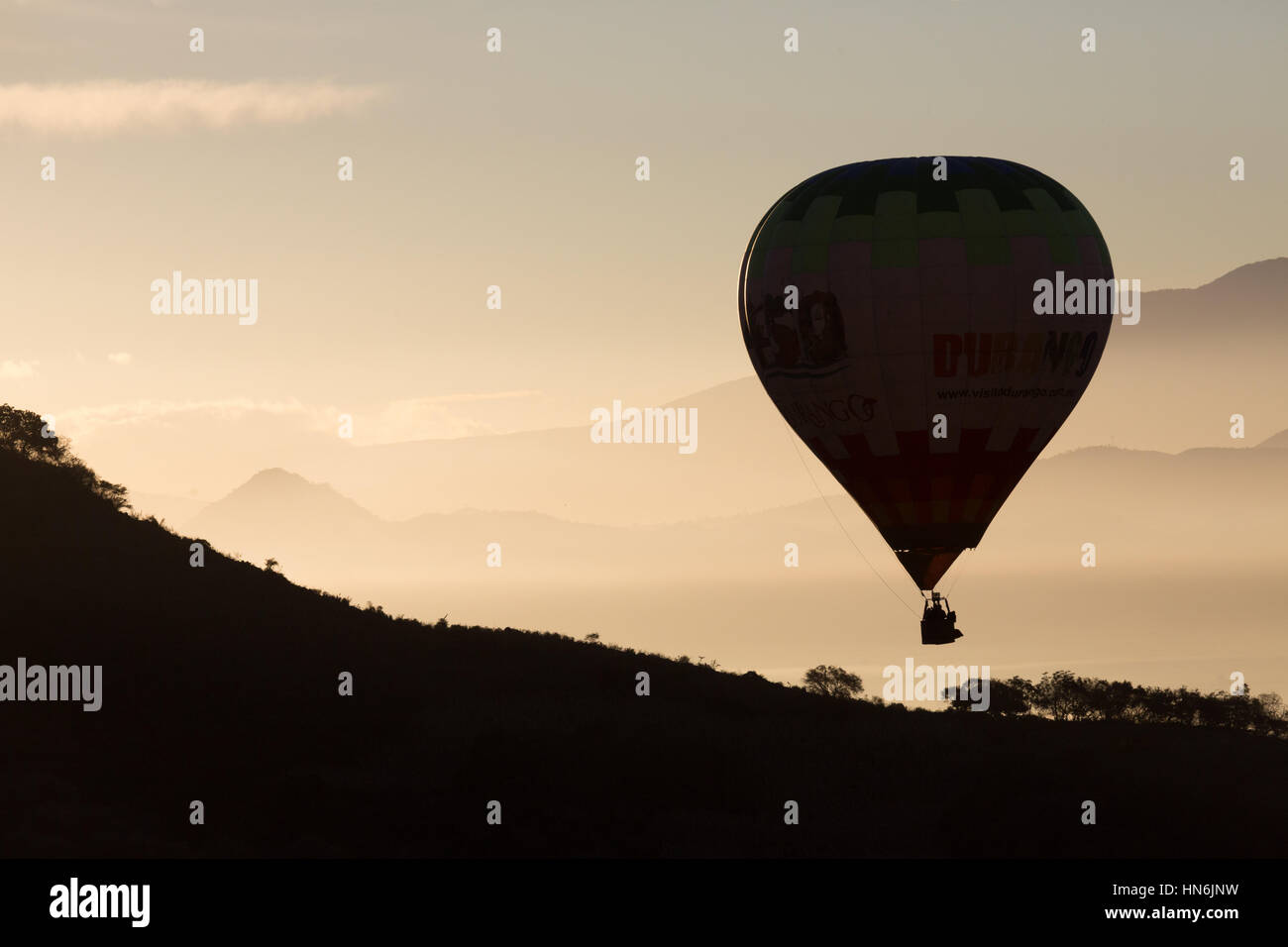 Ballonfahrt über Jalisco Mexiko Stockbild