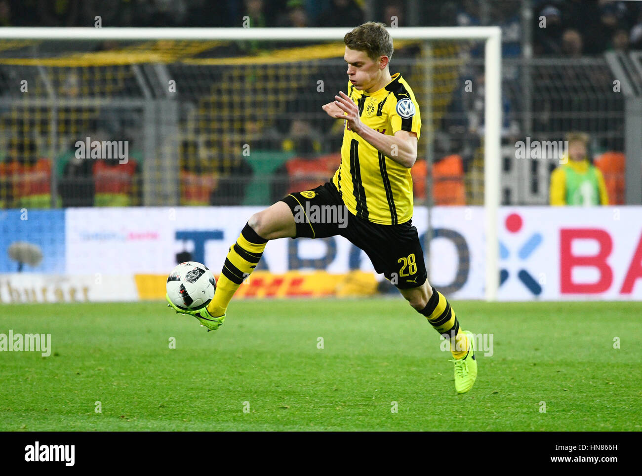Signal-Iduna-Park Dortmund, Deutschland. 8. Februar 2017. DFB-Pokal-Runde DFB-Pokal 2016/17 der sechzehn, Borussia Stockfoto