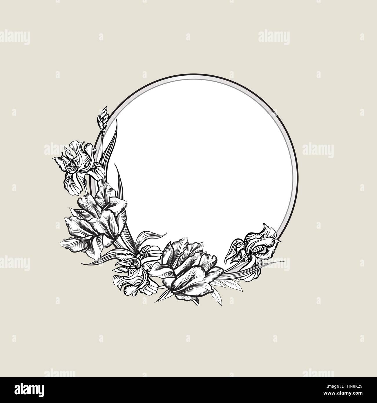 Tulip Flower Illustration Drawing Engraving Stockfotos & Tulip ...