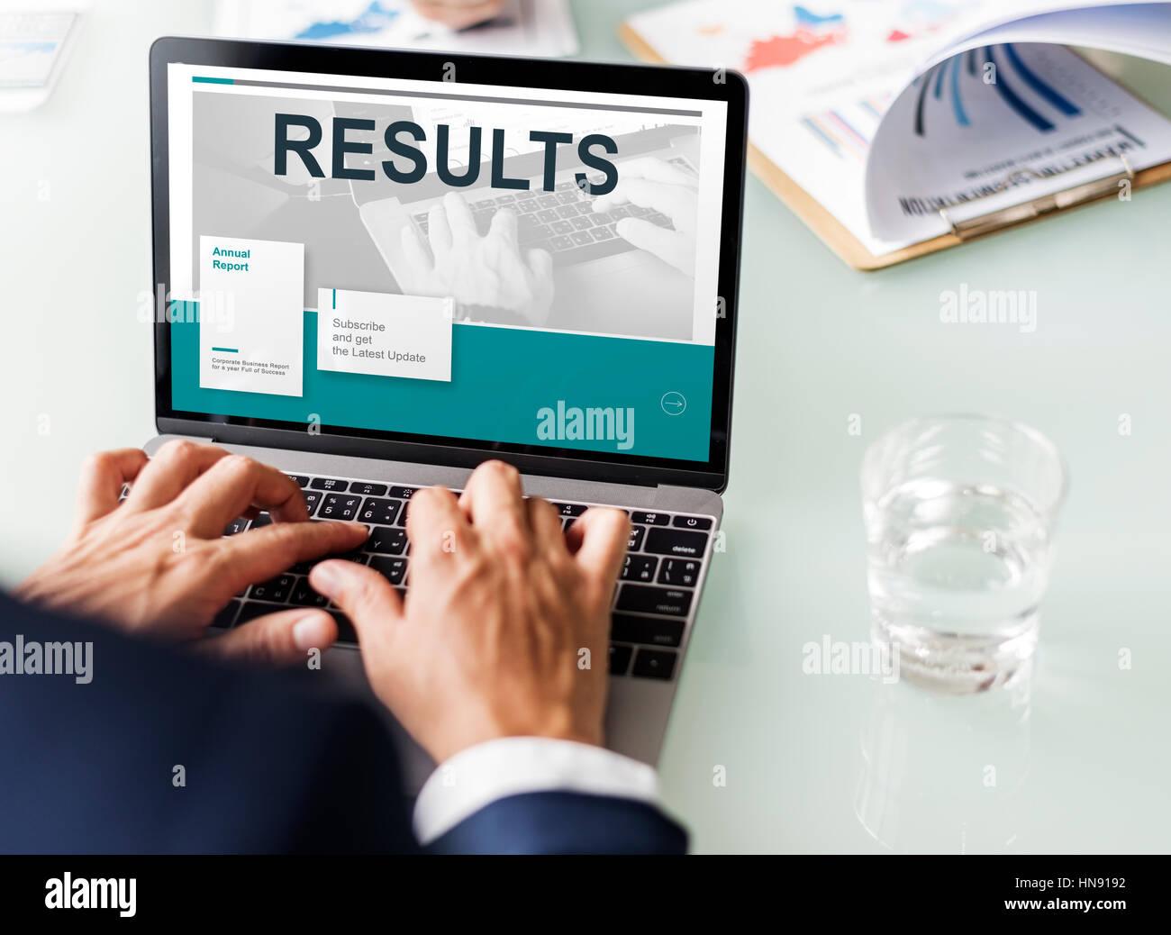 Ergebnisse Statistik Forschungskonzept Daten Analyse Stockbild