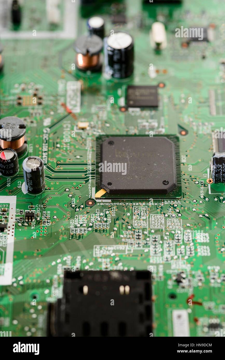 Nahaufnahme des elektronischen Circit board Stockfoto