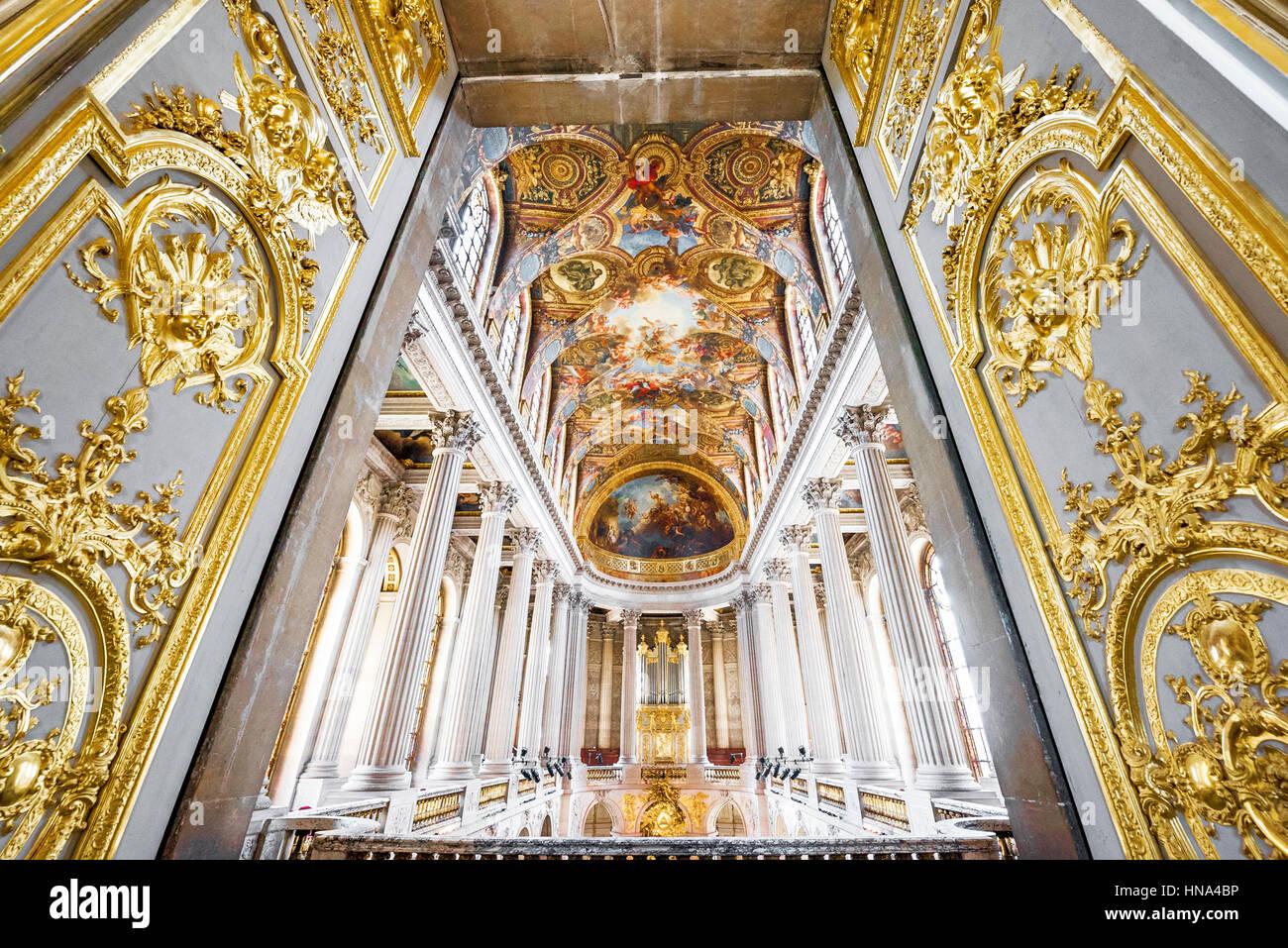 Beeindruckende Innere des Schloss Versailles Stockbild