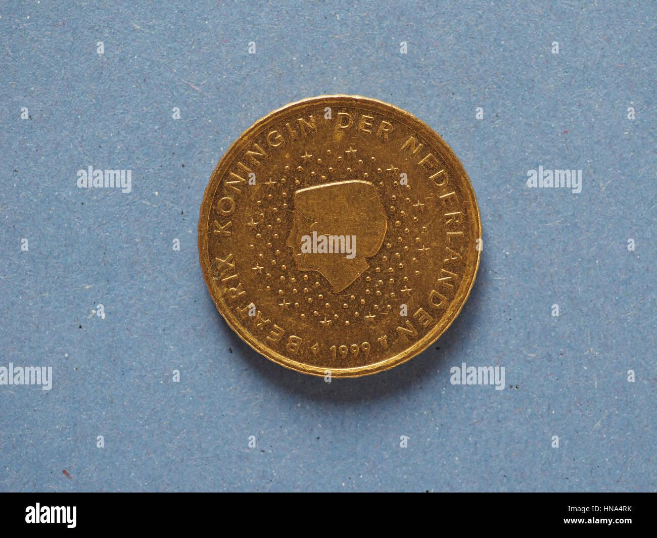50 Cent Münze Geld Eur Währung Der Europäischen Union Niederlande