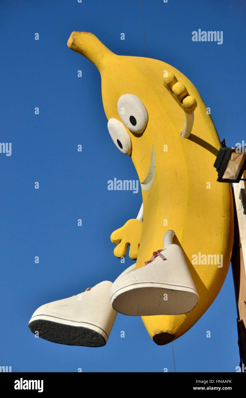 Banane-Cartoon-Figur Stockbild