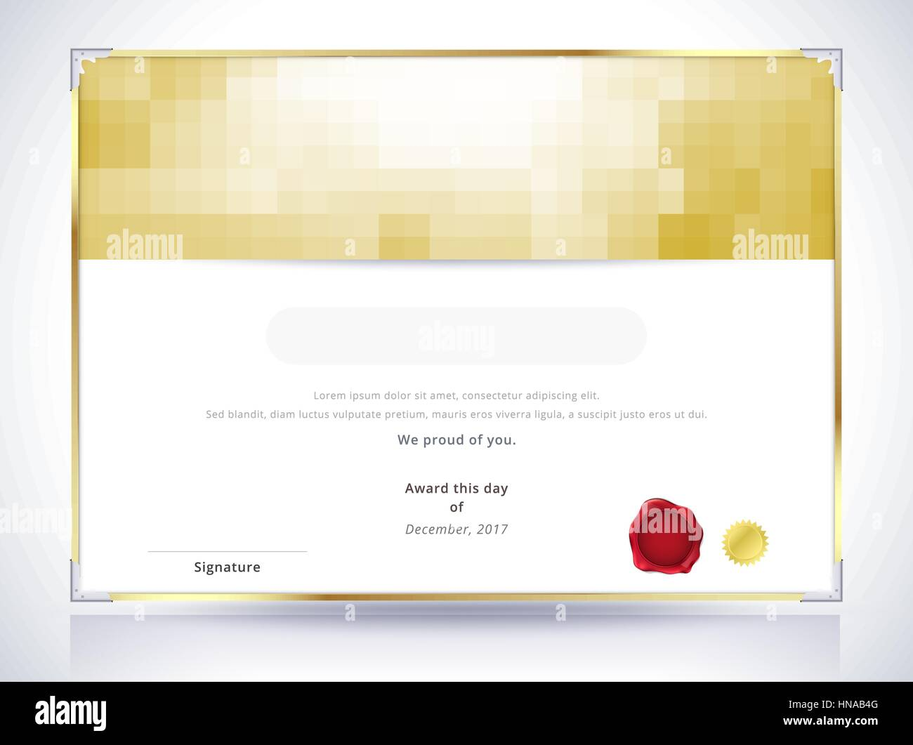 Template-Design Gold-Zertifikat. Luxus-Zertifikat-Hintergrund ...