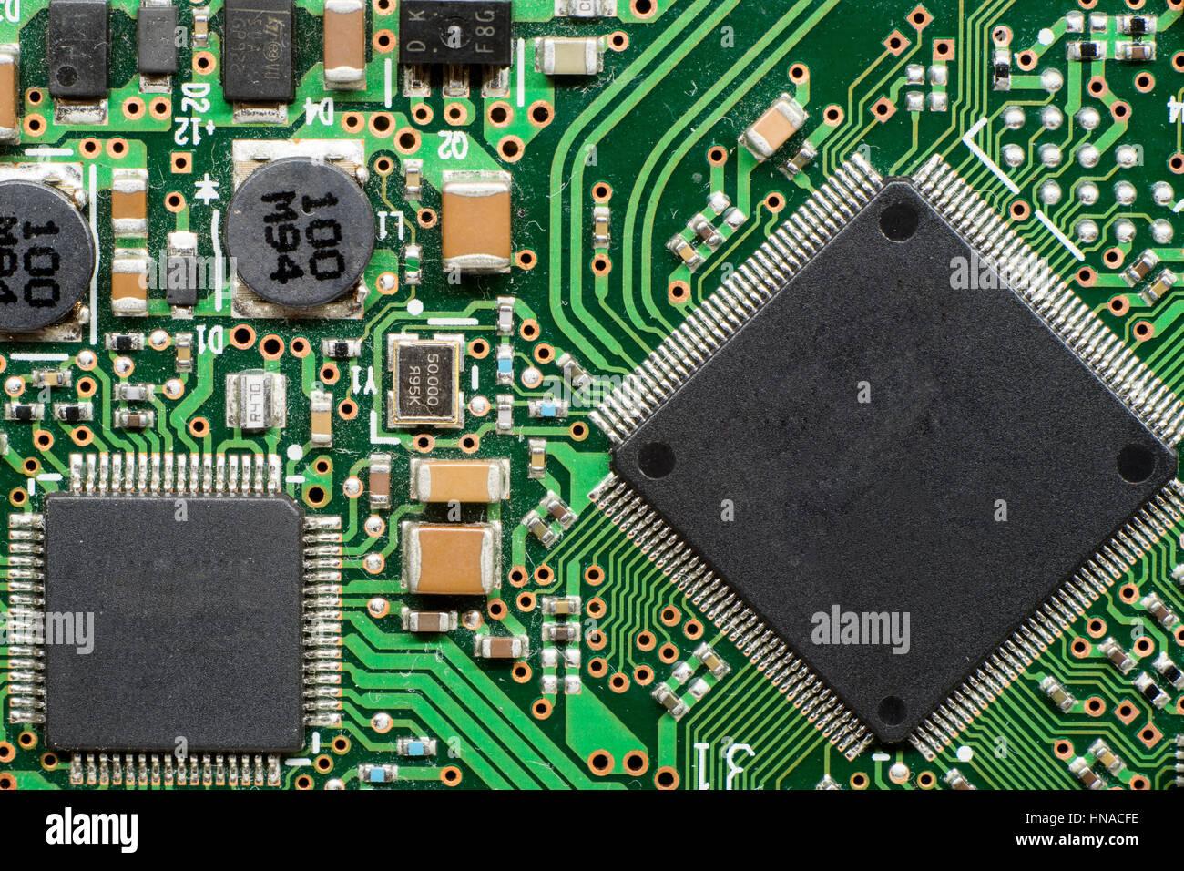Semiconductor Information Circuit Motherboard Stockfotos ...
