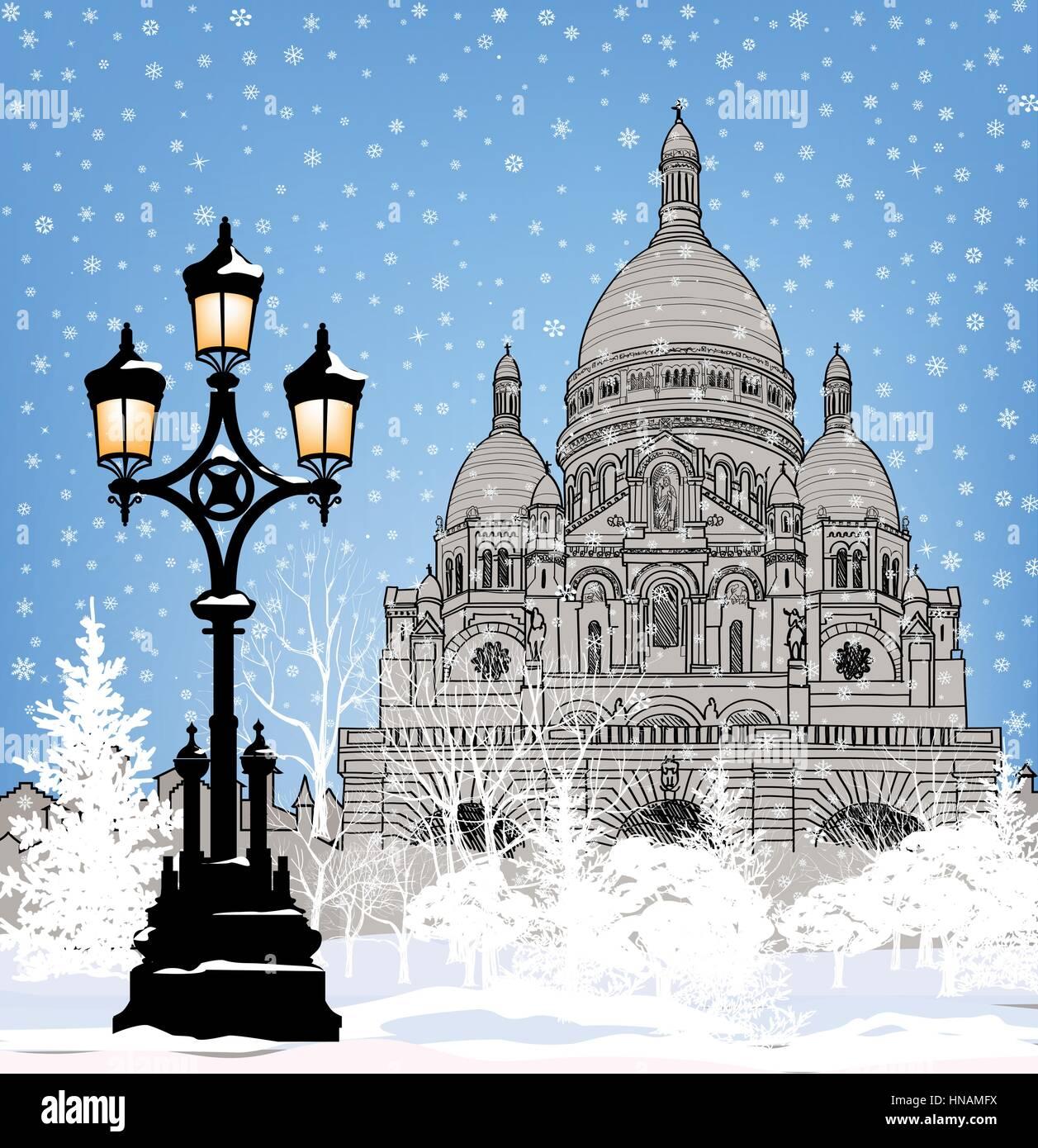 Verschneite Stadt Wallpaper Winter Weihnachten Schnee Hintergrund