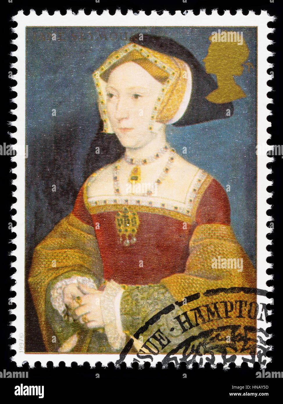 Vereinigtes Königreich - CIRCA 1997: verwendete Briefmarke gedruckt in Großbritannien zum Gedenken an König Henry Stockfoto