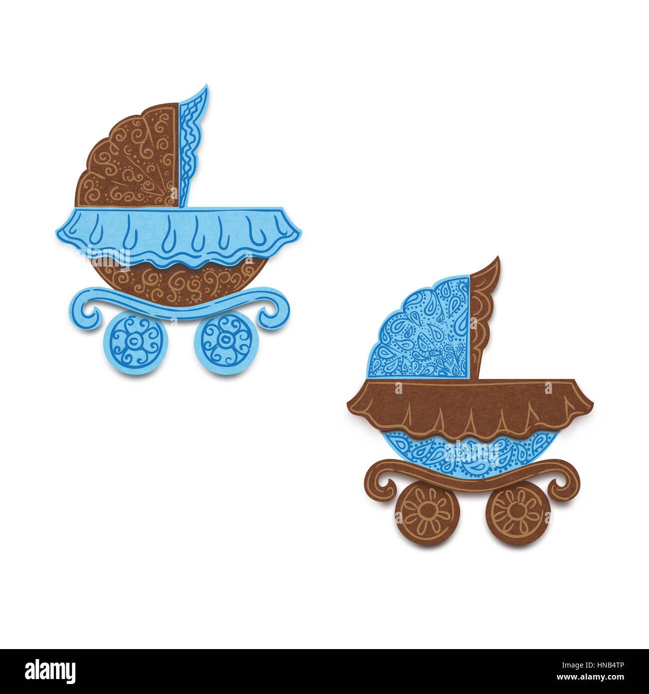 Baby Girl Announcement Card Stockfotos & Baby Girl Announcement Card ...