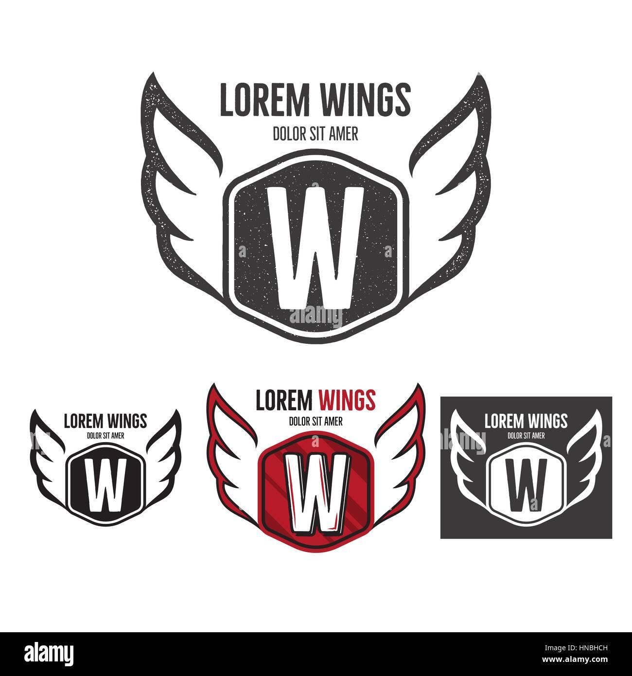 Airplane Logo Icon Emblem Template Stockfotos & Airplane Logo Icon ...