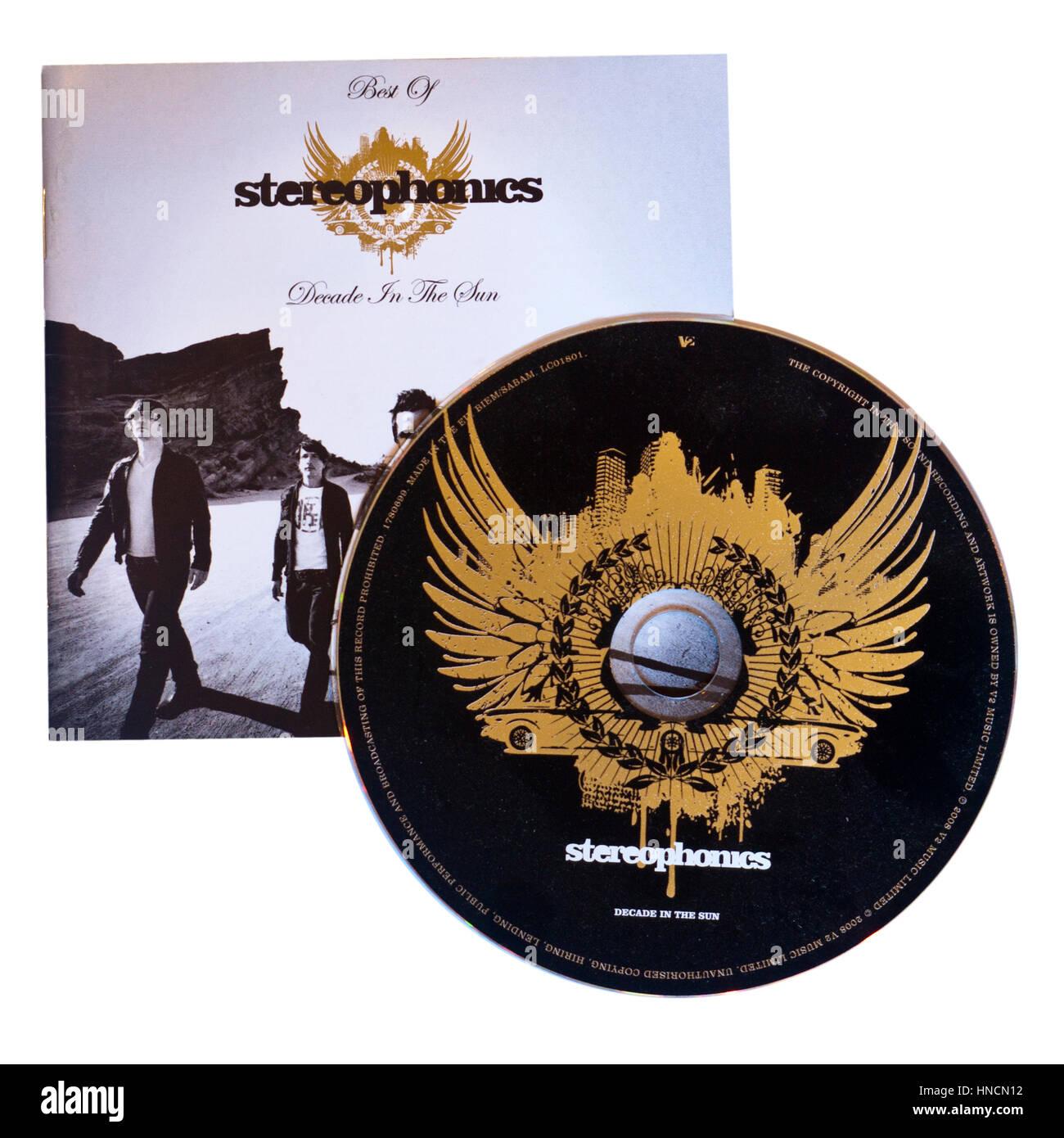 Das beste von Stereophonics Jahrzehnt In THe Sun-Musik-CD Stockbild