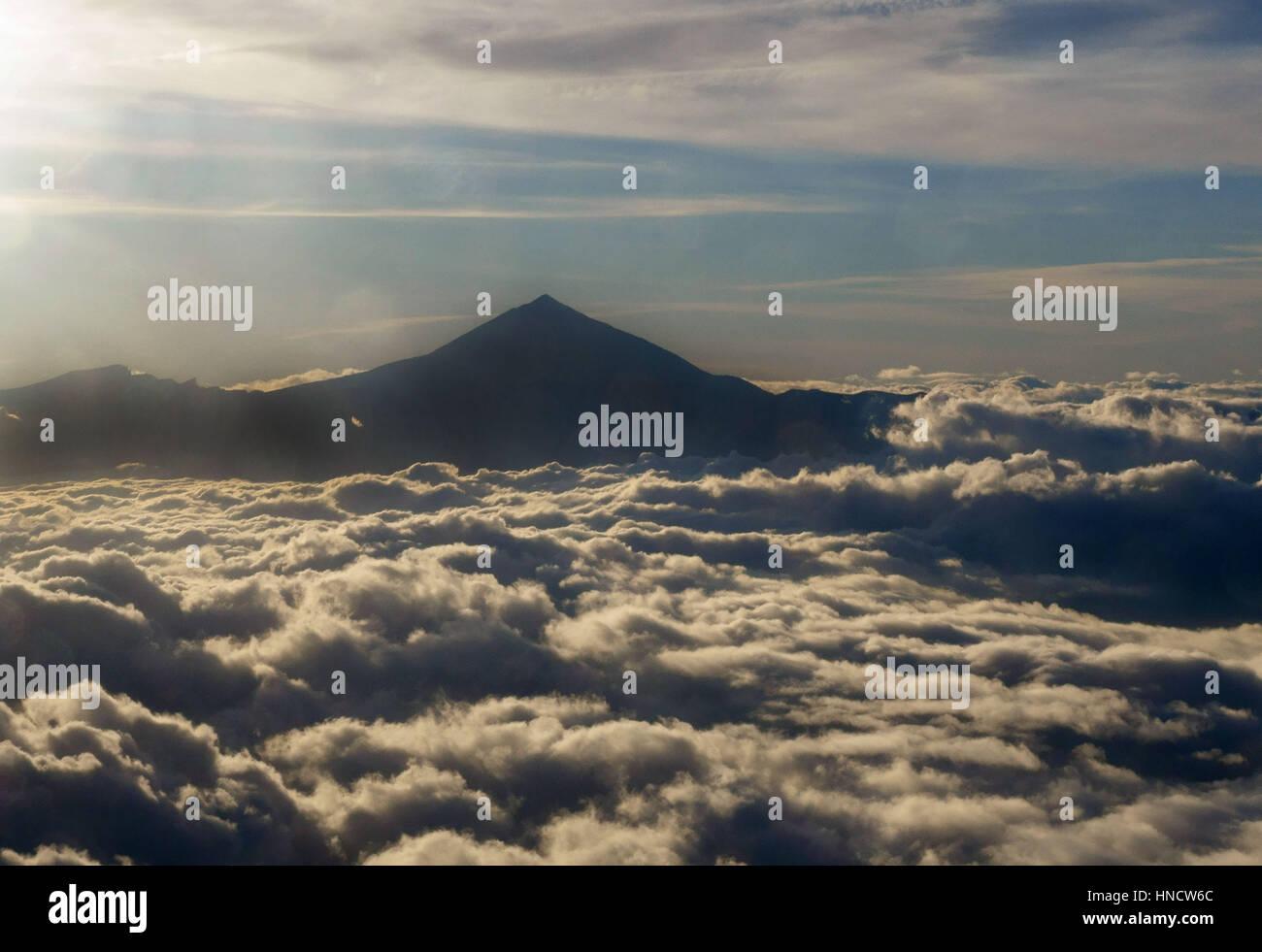 Der Teide, Teneriffa, Kanarische Inseln ist höchste Berg in Spanien Stockbild