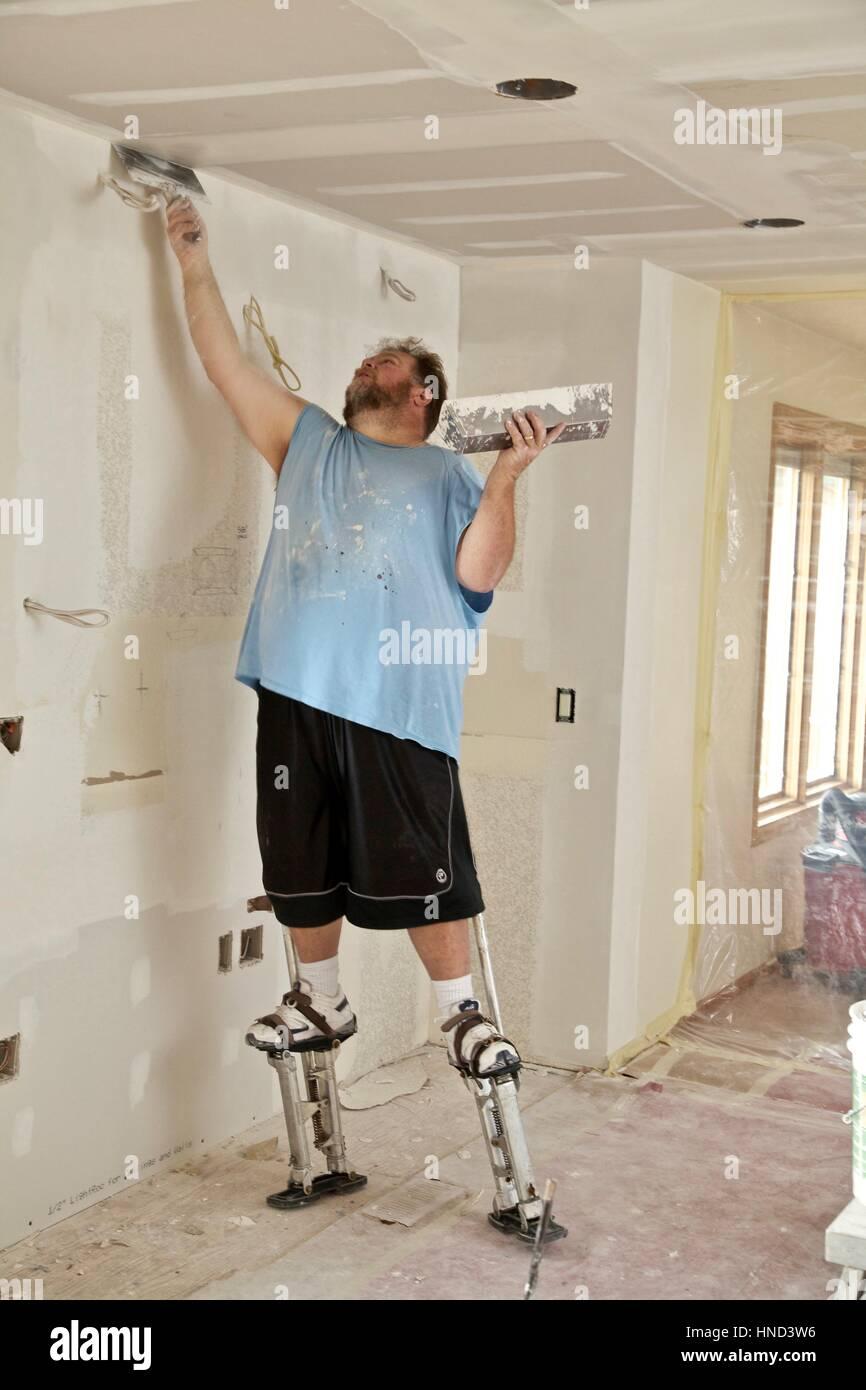 Drywall Installer Stockfotos & Drywall Installer Bilder - Alamy
