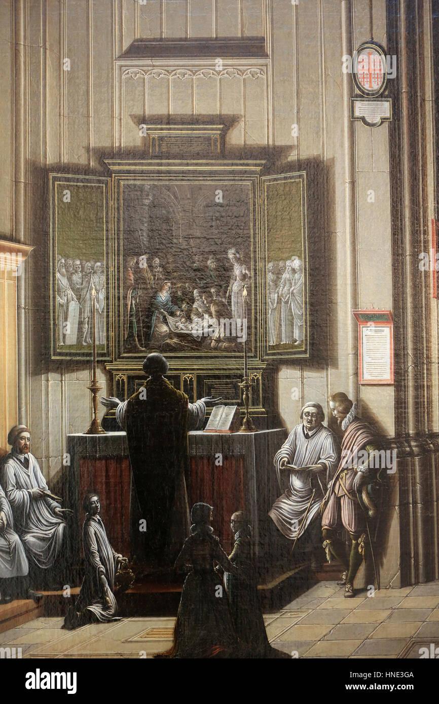 Hieron Museum. Intérieur d'Église. Henri Van Steinwick le Jeune. (1580 - 1649). Huile Sur Toile. Stockbild
