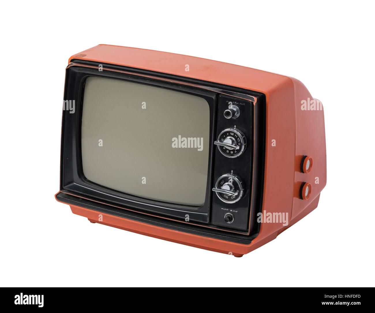 Fernseher Hintergrund retro-fernseher isolierten auf weißen hintergrund stockfoto, bild