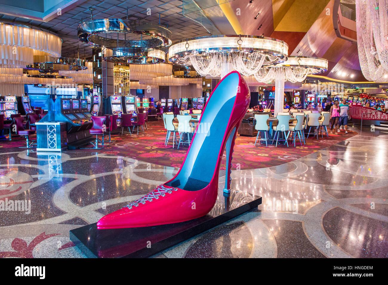 Das kosmopolitische Hotel & Casino in Las Vegas. Das Cosmopolitan wurde 2010 eröffnet und bietet 2.995 Zimmer und Stockfoto
