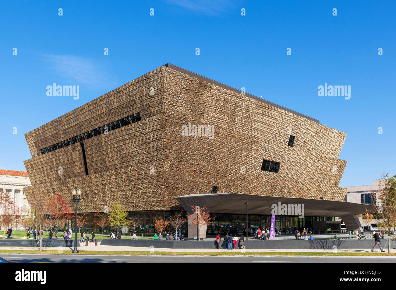 National Museum of African American History und Kultur, National Mall, Washington DC, USA Stockbild