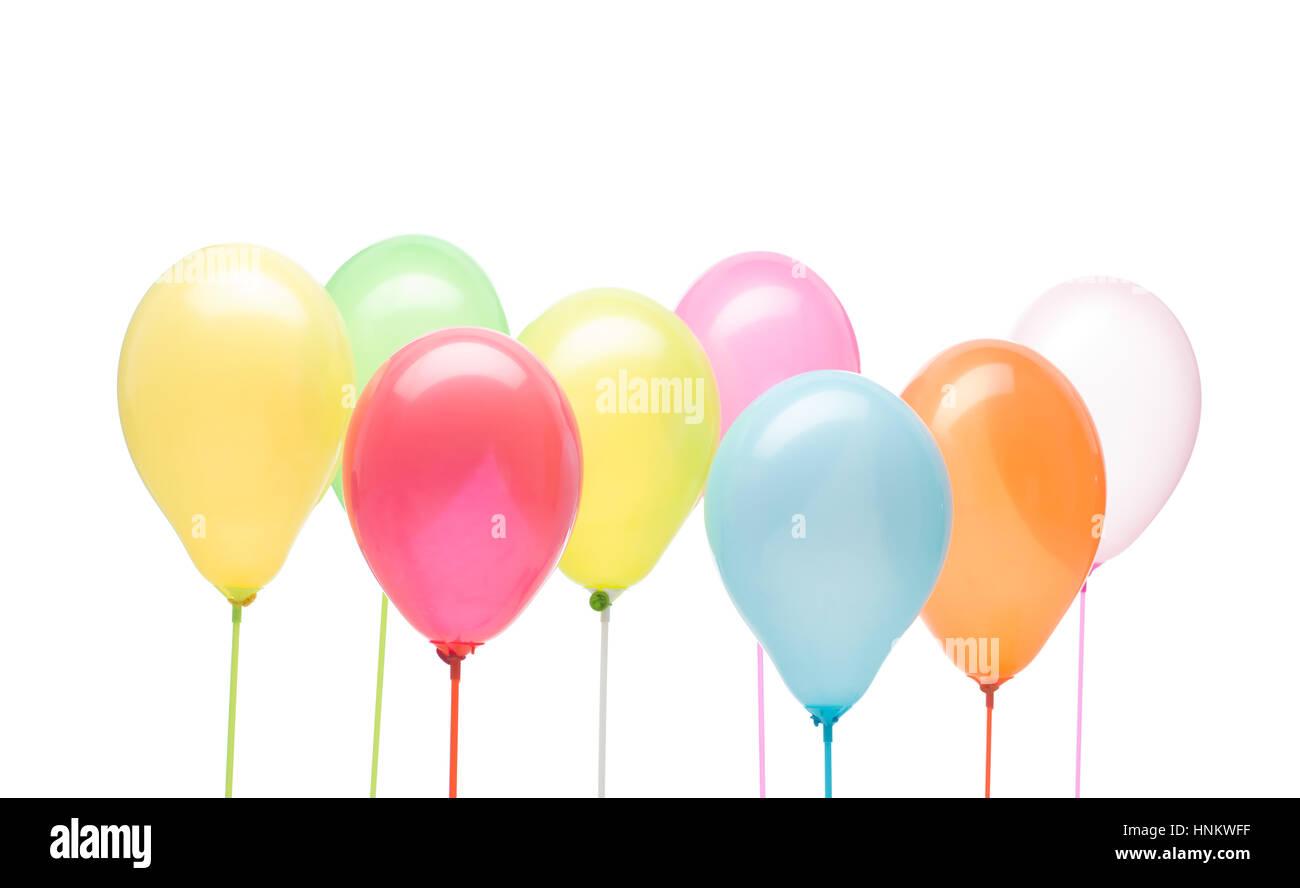 Blue White Party Balloons Design Stockfotos & Blue White Party ...
