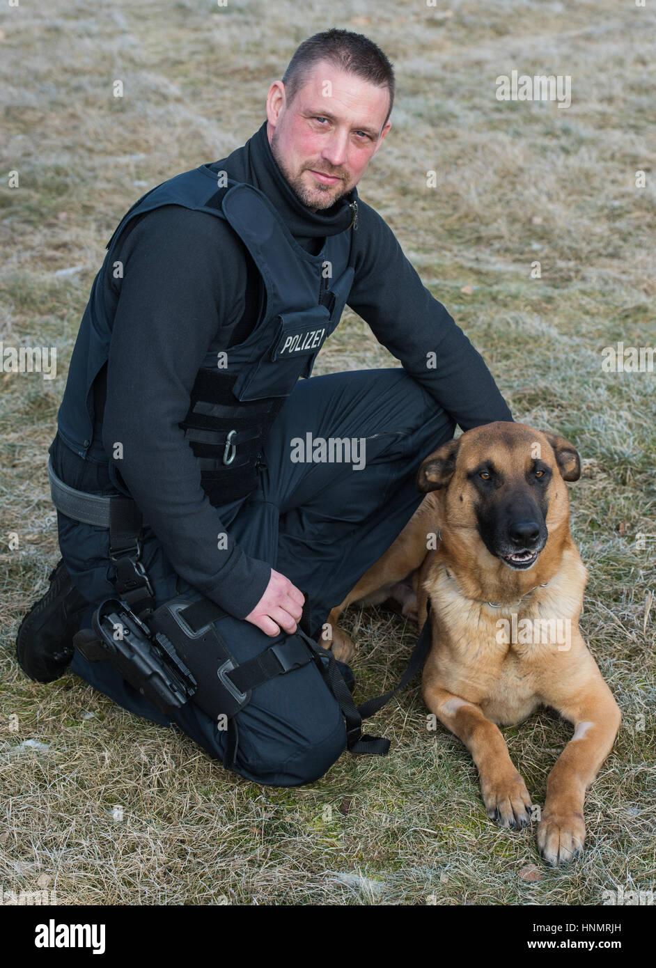 Marco Friedrich frankfurt am deutschland 14 februar 2017 der dienst hund
