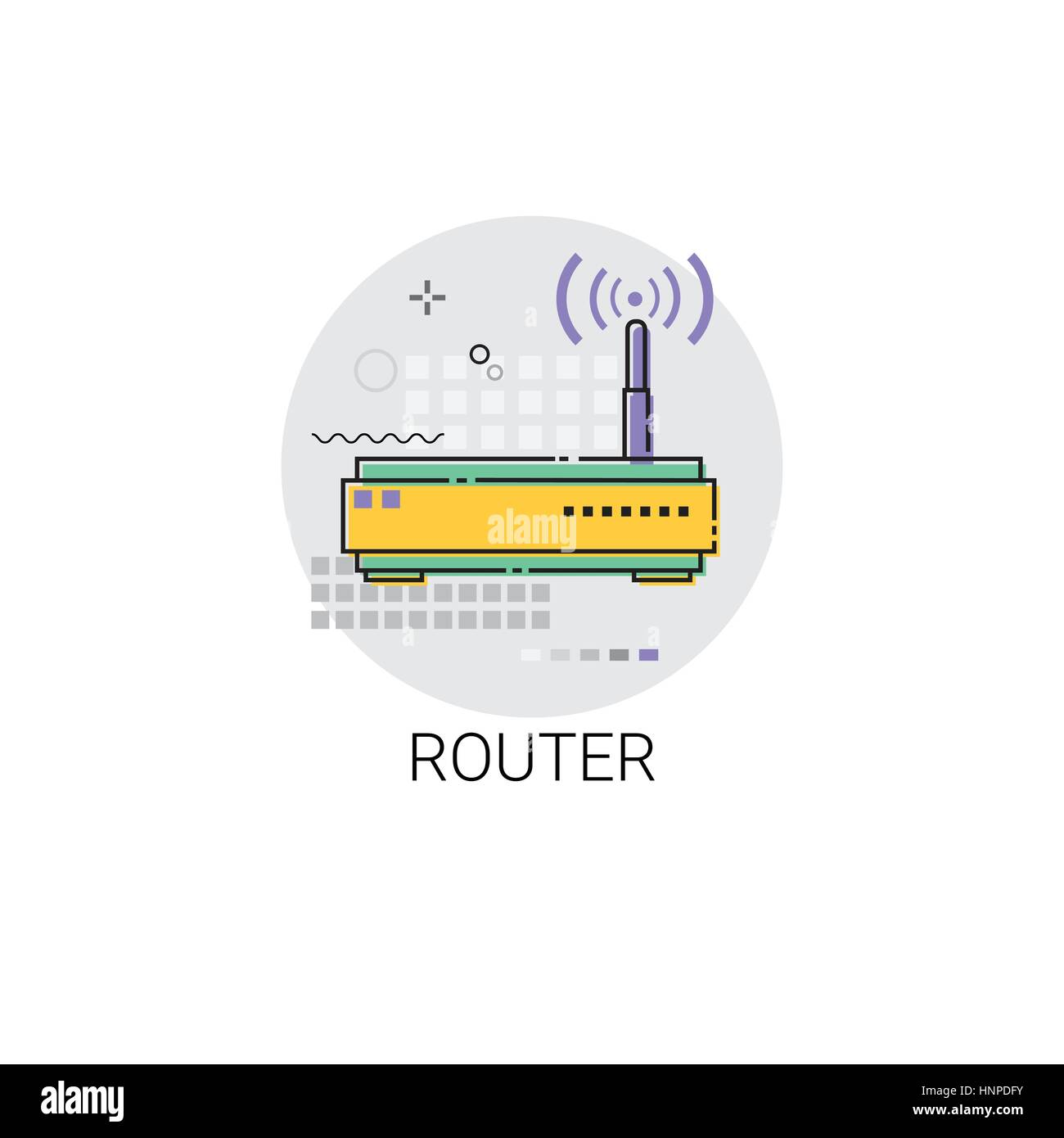 WLAN Router-Internet-Verbindung-Symbol-Vektor-Illustration Vektor ...