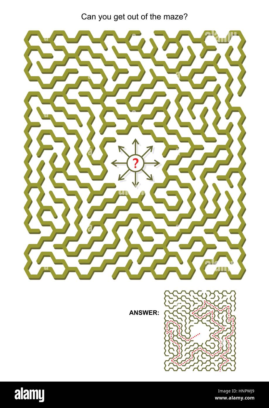Labyrinth Spiel für Kinder oder Erwachsene: Kann man aus dem ...
