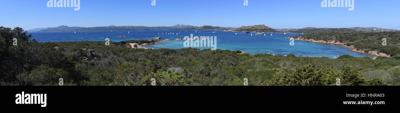 Nationalpark der Maddalena-Archipel Stockbild