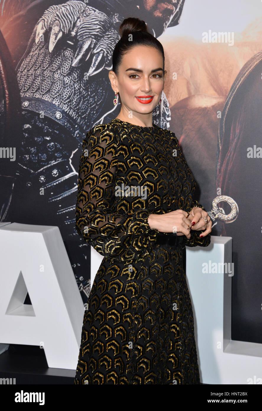 """Los Angeles, USA. 15. Februar 2017. Schauspielerin Ana De La Reguera bei der Premiere für """"The Great Wall"""" Stockbild"""
