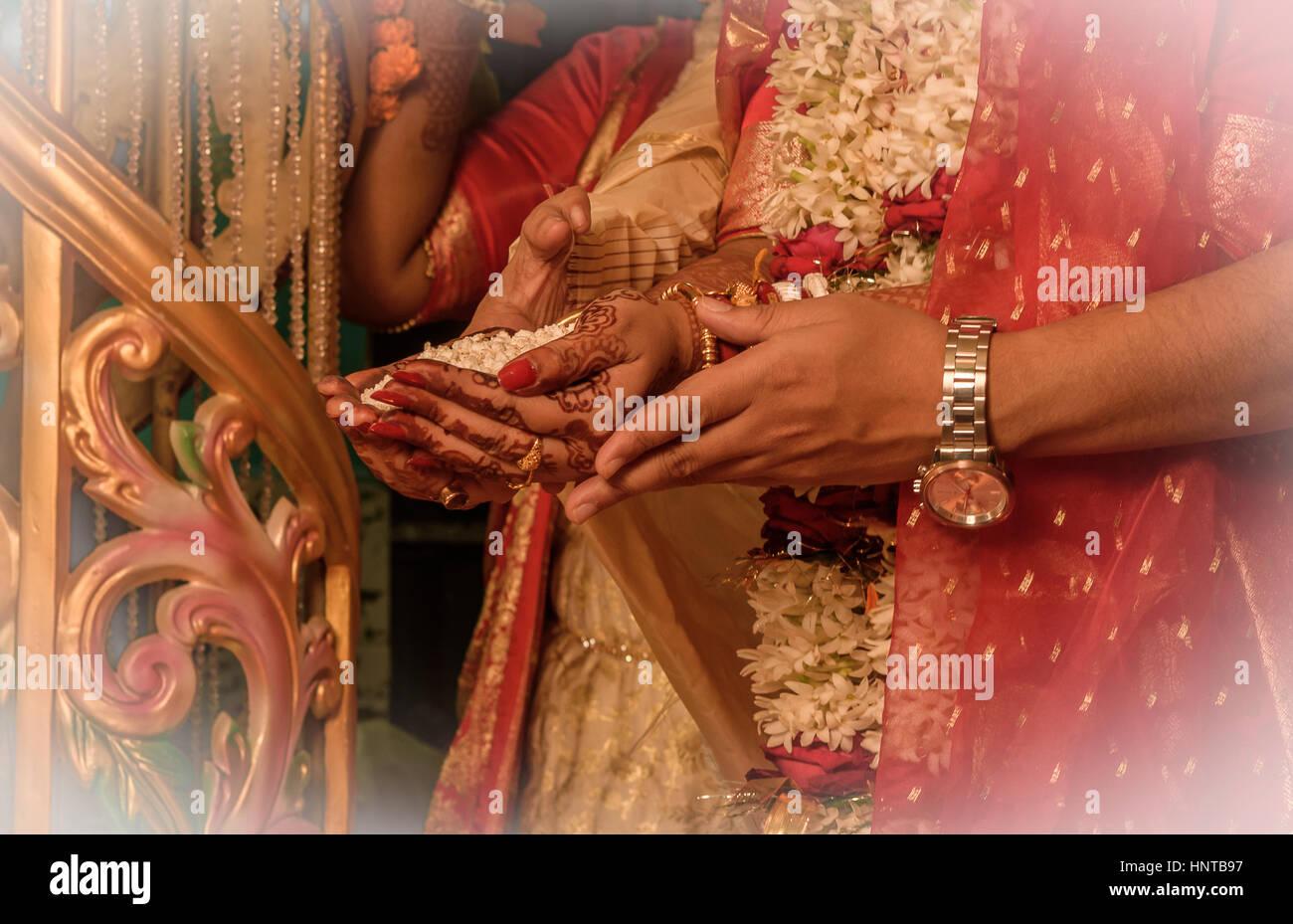 Indische Hochzeit Rituale Indische Paare Stockfoto Bild
