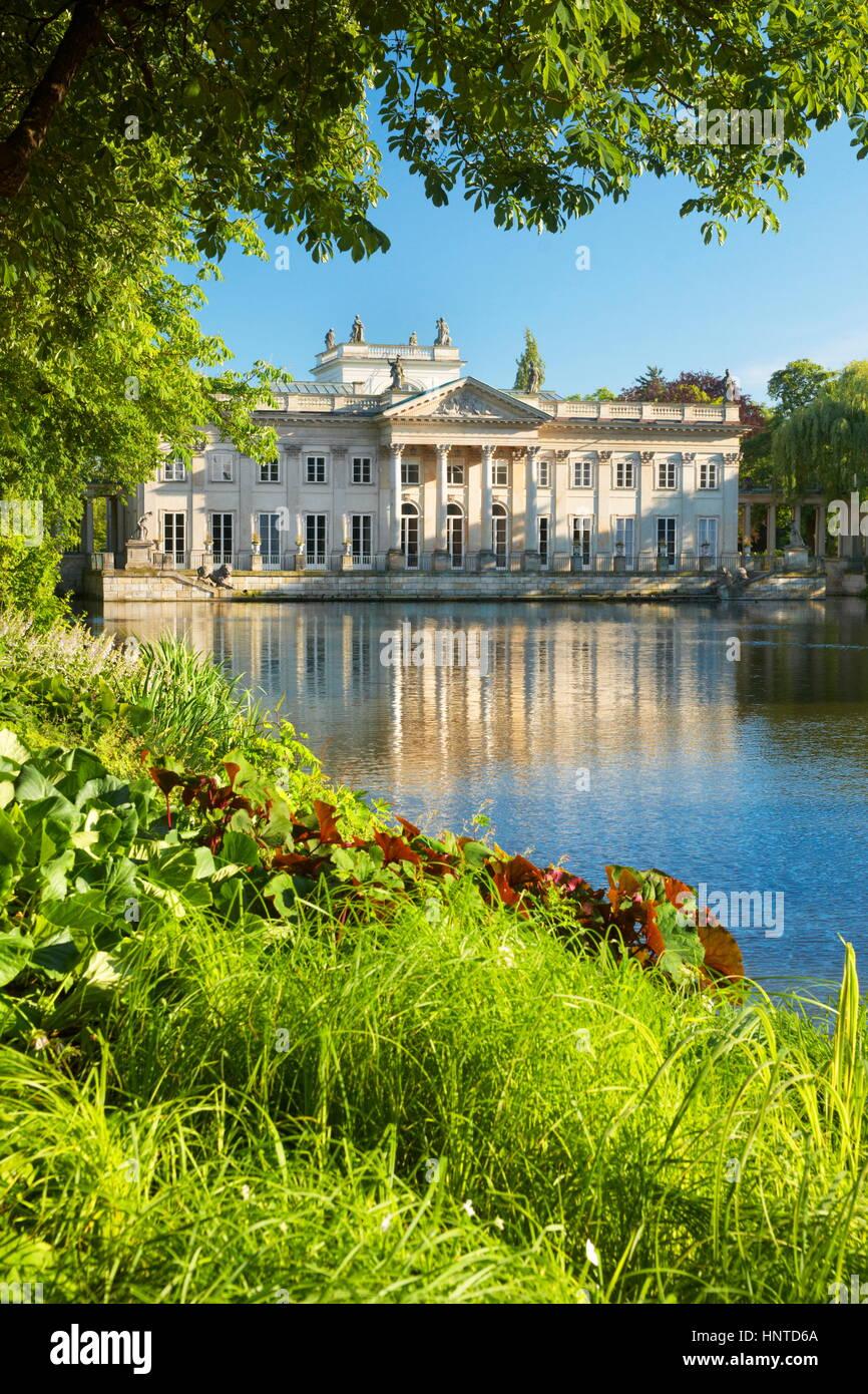 Königspalast In Der Lazienki Park Warschau Polen Stockfoto Bild