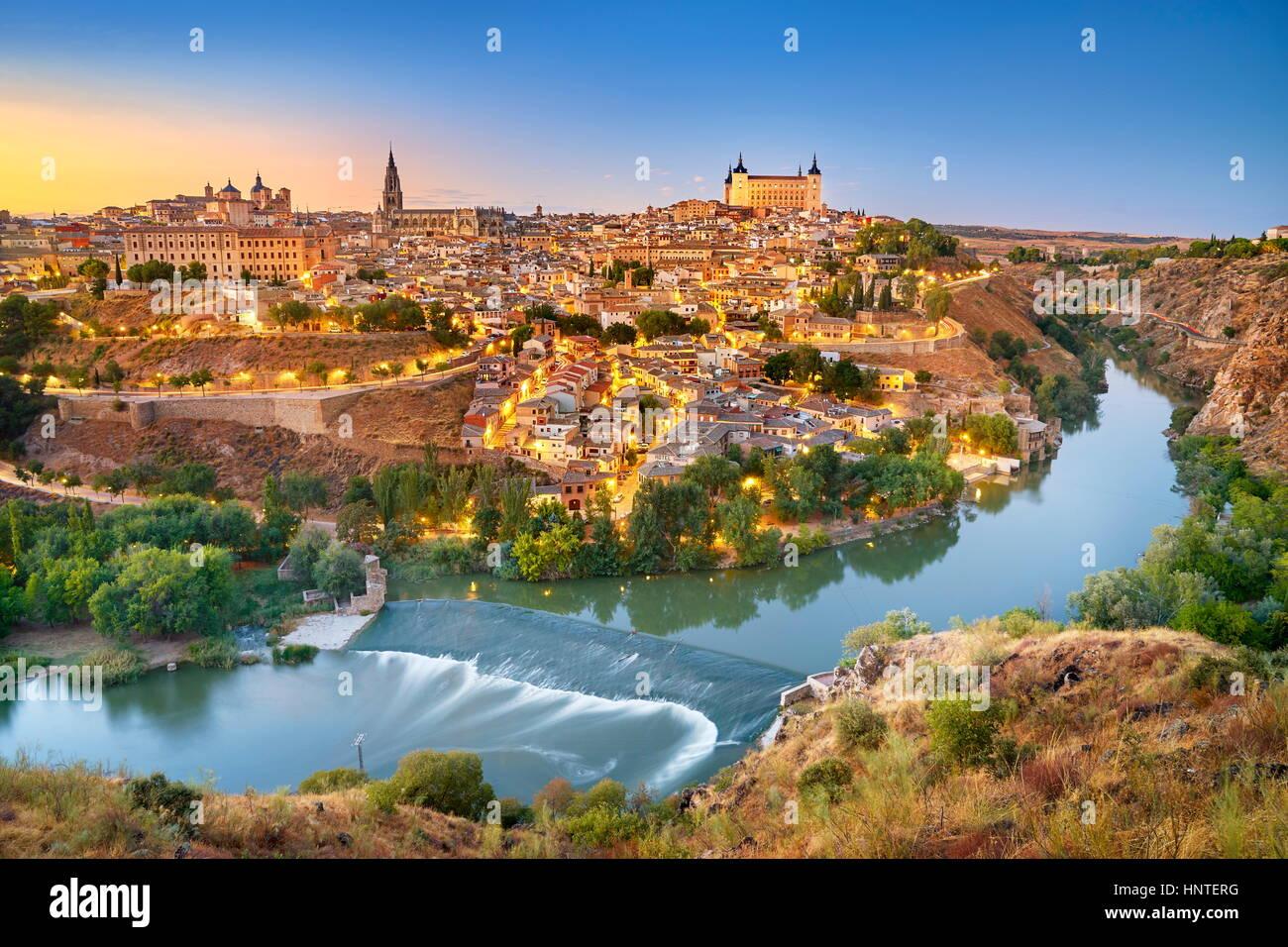 Toledo - alte Stadt Skyline, Spanien Stockbild